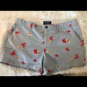 Old Navy Floral Striped Shorts size 10